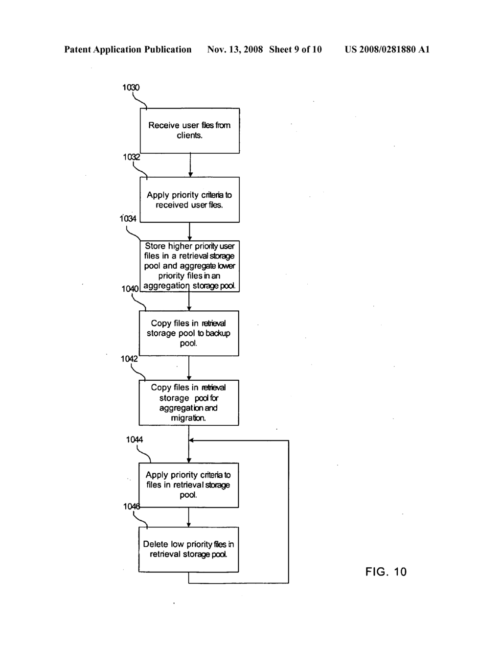 METHOD FOR STORING DATA FOR RETRIEVAL AND TRANSFER - diagram, schematic, and image 10