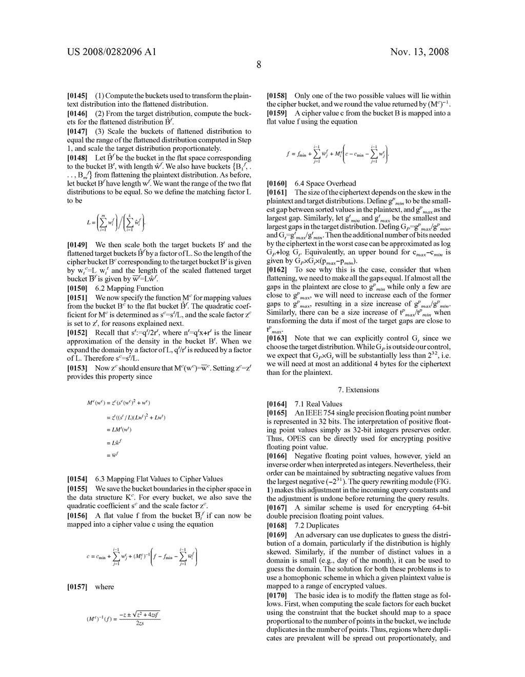 SYSTEM AND METHOD FOR ORDER-PRESERVING ENCRYPTION FOR NUMERIC DATA - diagram, schematic, and image 16