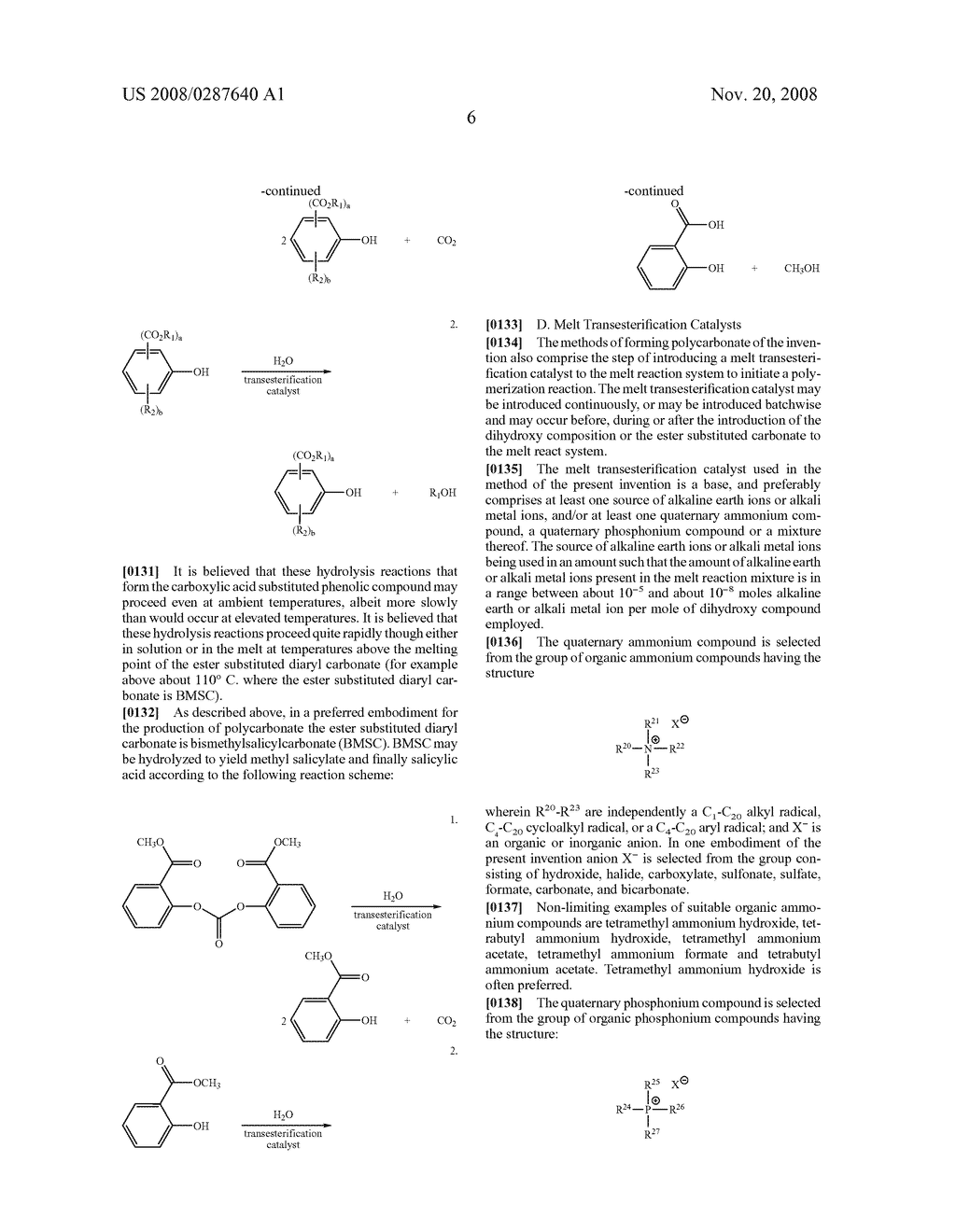 PROCESS FOR THE PRODUCTION OF POLYCARBONATE USING AN ESTER SUBSTITUTED DIARYL CARBONATE - diagram, schematic, and image 14