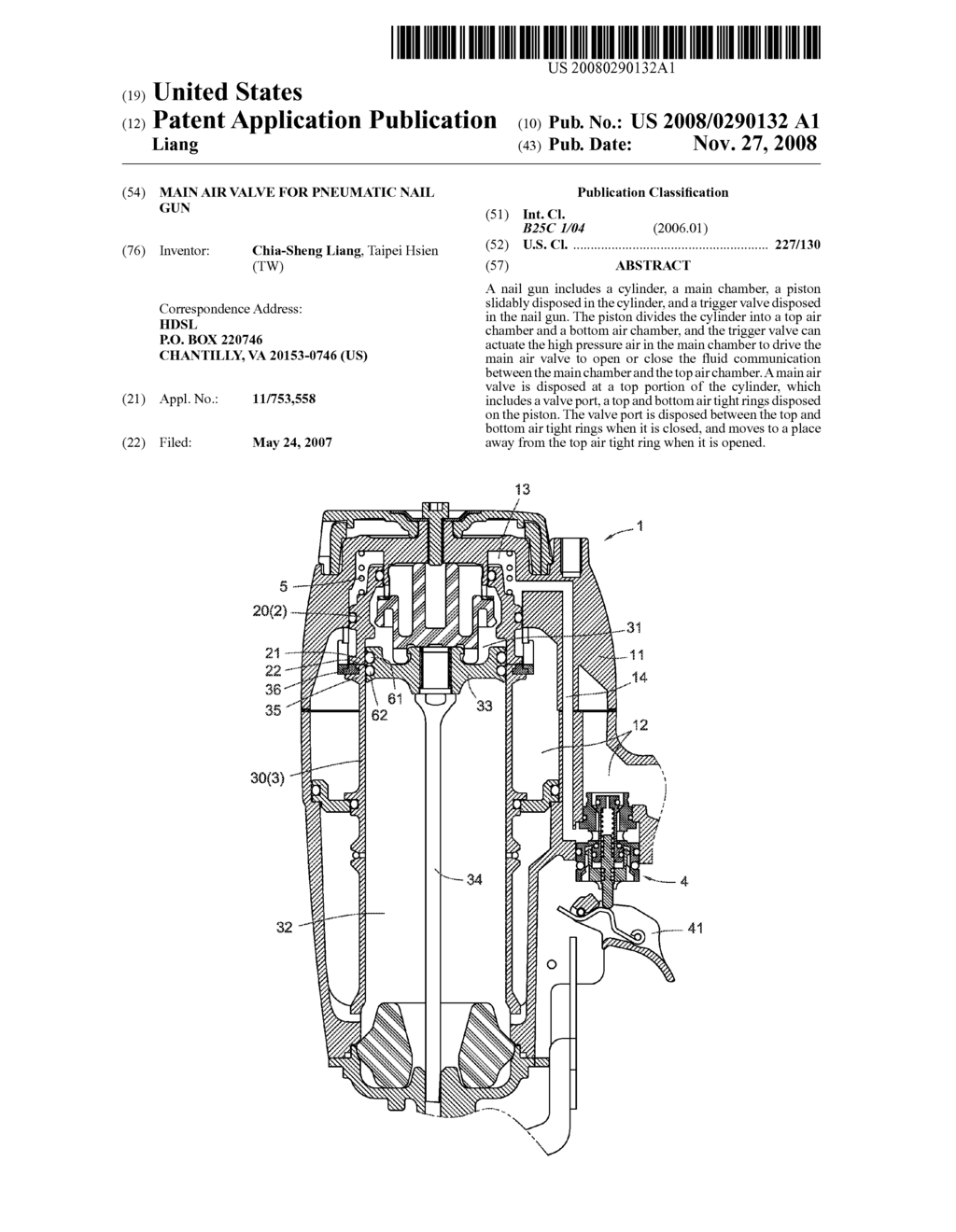 Main Air Valve For Pneumatic Nail Gun Diagram Schematic And Image 01 Case 220 Wiring