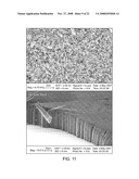 Electrically and thermally conductive carbon nanotube or nanofiber array dry adhesive diagram and image