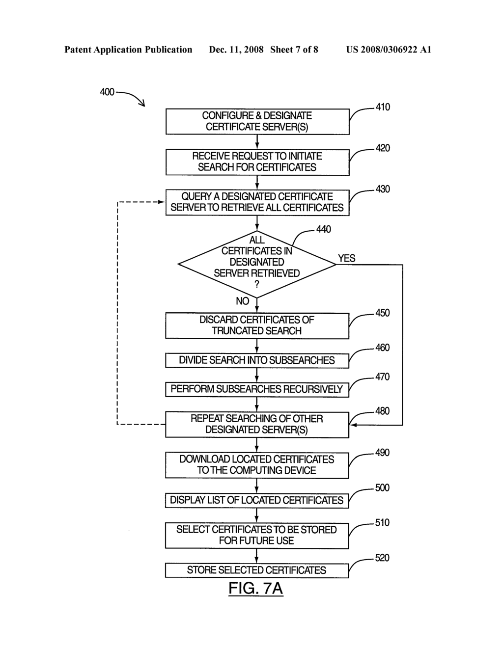 SYSTEM AND METHOD FOR ENABLING BULK RETRIEVAL OF CERTIFICATES - diagram, schematic, and image 08