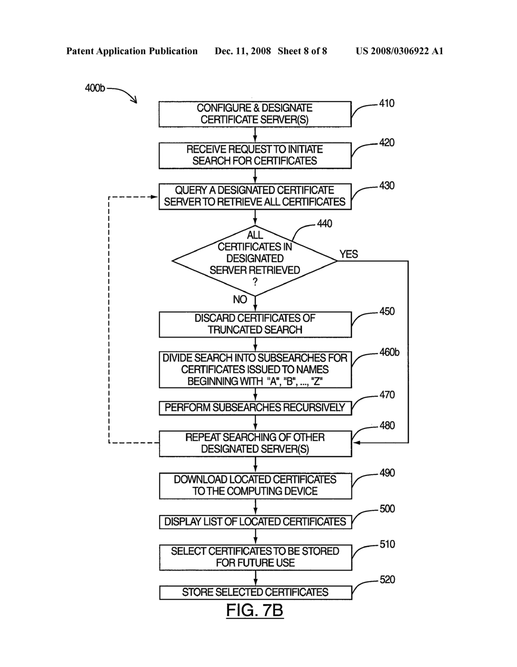 SYSTEM AND METHOD FOR ENABLING BULK RETRIEVAL OF CERTIFICATES - diagram, schematic, and image 09