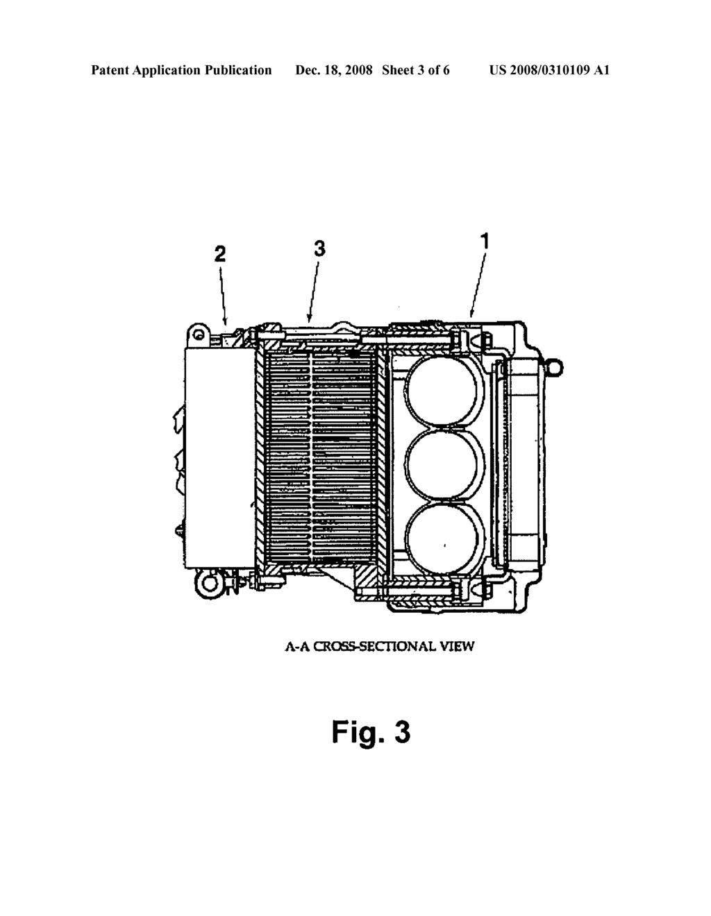 Cooling structure for high voltage electrical parts of a