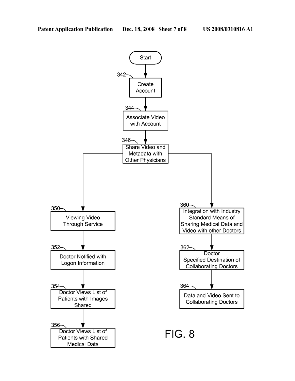 SYSTEM AND METHOD FOR TRANSMISSION, ONLINE EDITING, STORAGE AND RETRIEVAL, COLLABORATION AND SHARING OF DIGITAL MEDICAL VIDEO AND IMAGE DATA - diagram, schematic, and image 08