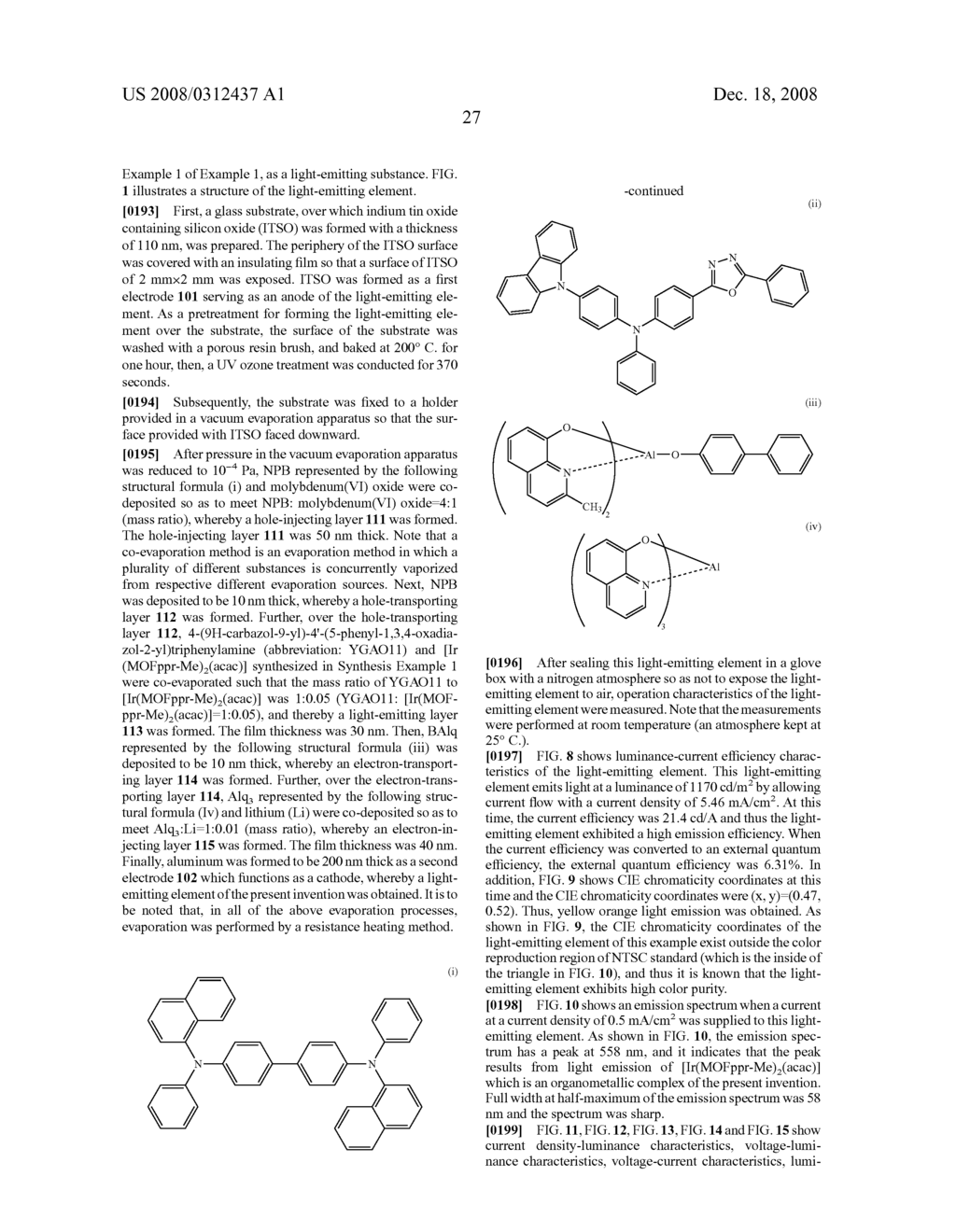 Organometallic Complex, and Light-Emitting Element, Light-Emitting Device, and Electronic Device Using the Organometallic Complex - diagram, schematic, and image 44