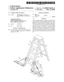 Ladder stabilizing brace diagram and image