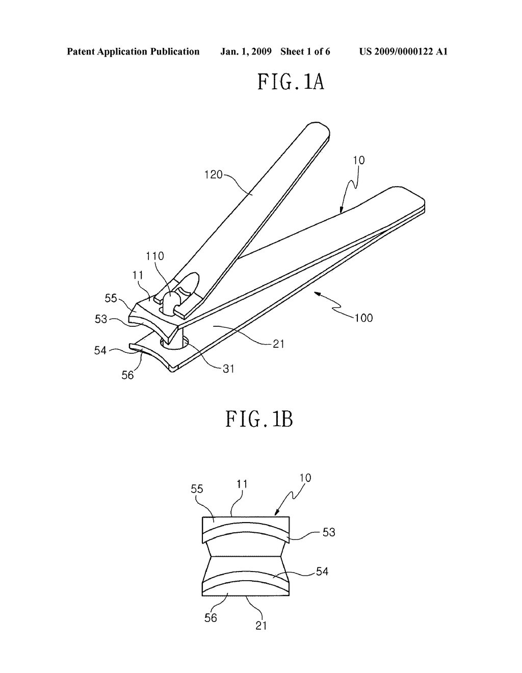 Manufacturing Method For Arc Type Nail Clipper Blade And Its