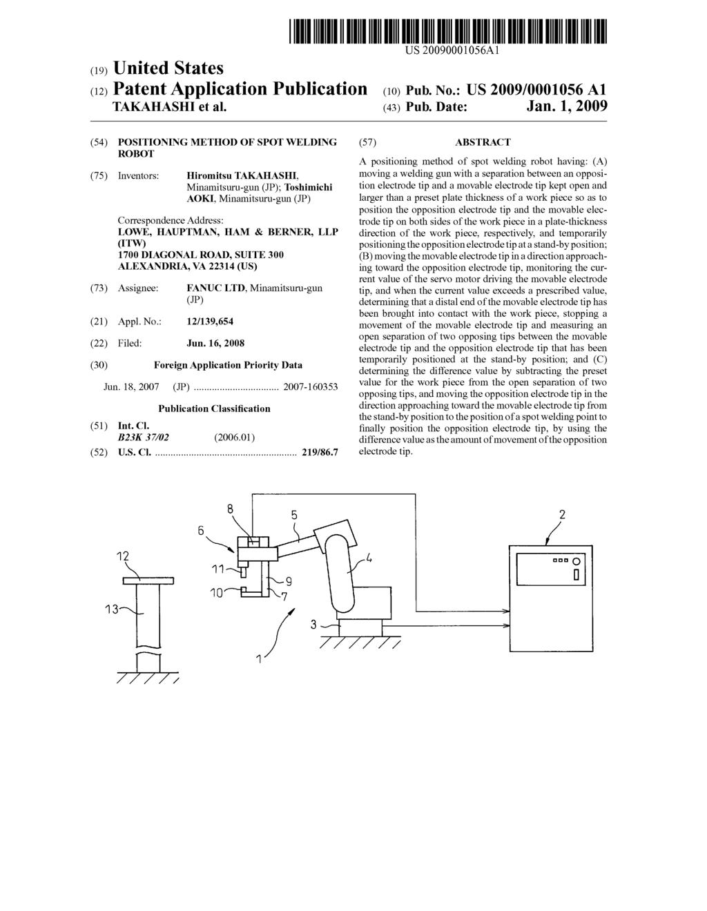 POSITIONING METHOD OF SPOT WELDING ROBOT - diagram, schematic, and image 01