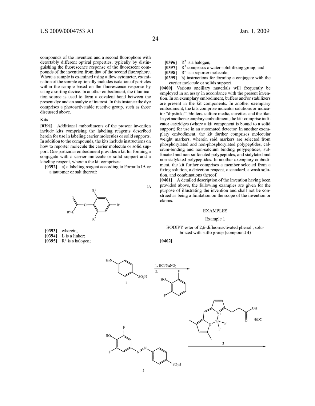 LABELING REAGENTS AND METHODS OF THEIR USE - diagram, schematic, and image 33
