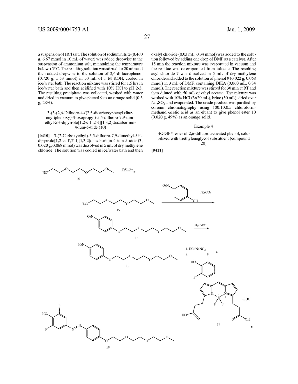 LABELING REAGENTS AND METHODS OF THEIR USE - diagram, schematic, and image 36