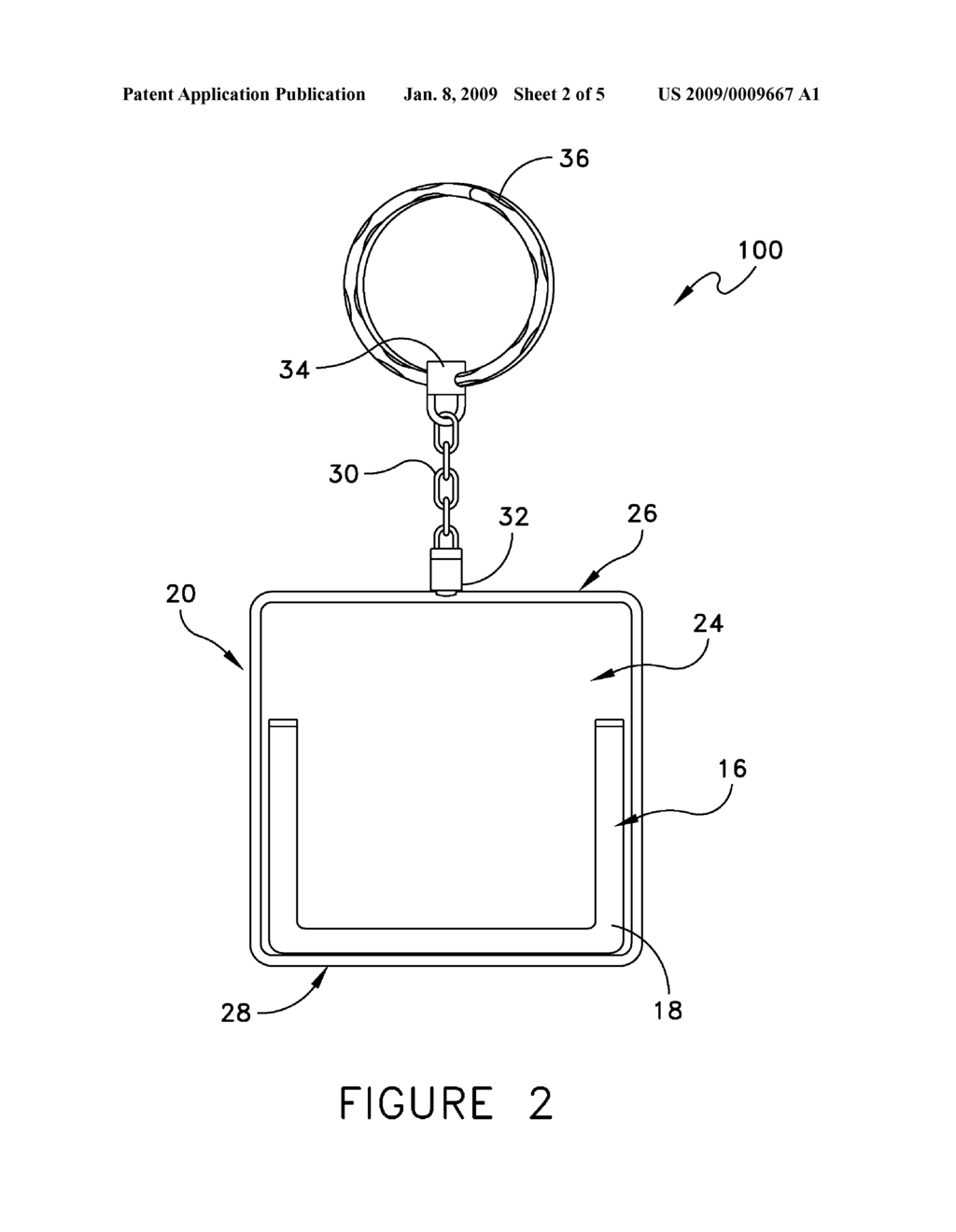 KEY CHAIN DISPLAY DEVICE - diagram, schematic, and image 03