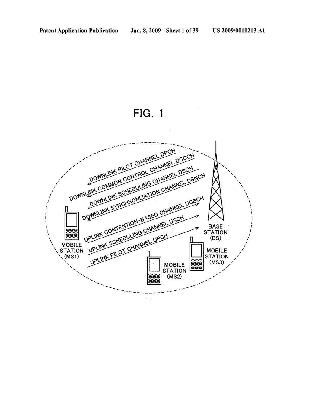 Mobile Station Device, Base Station Device, Mobile Station Device Operating Frequency Band Mapping Method, Location Management Device, Mobile Station Device Location Registration Method, Paging Method, and Program for Executing the Same and Recording Medium - diagram, schematic, and image 02