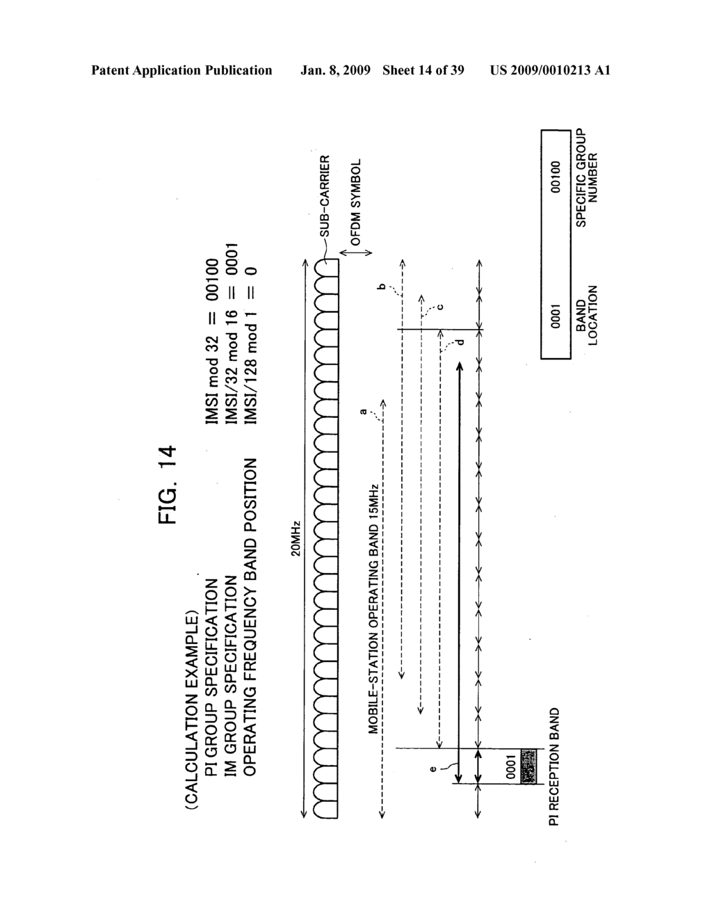 Mobile Station Device, Base Station Device, Mobile Station Device Operating Frequency Band Mapping Method, Location Management Device, Mobile Station Device Location Registration Method, Paging Method, and Program for Executing the Same and Recording Medium - diagram, schematic, and image 15