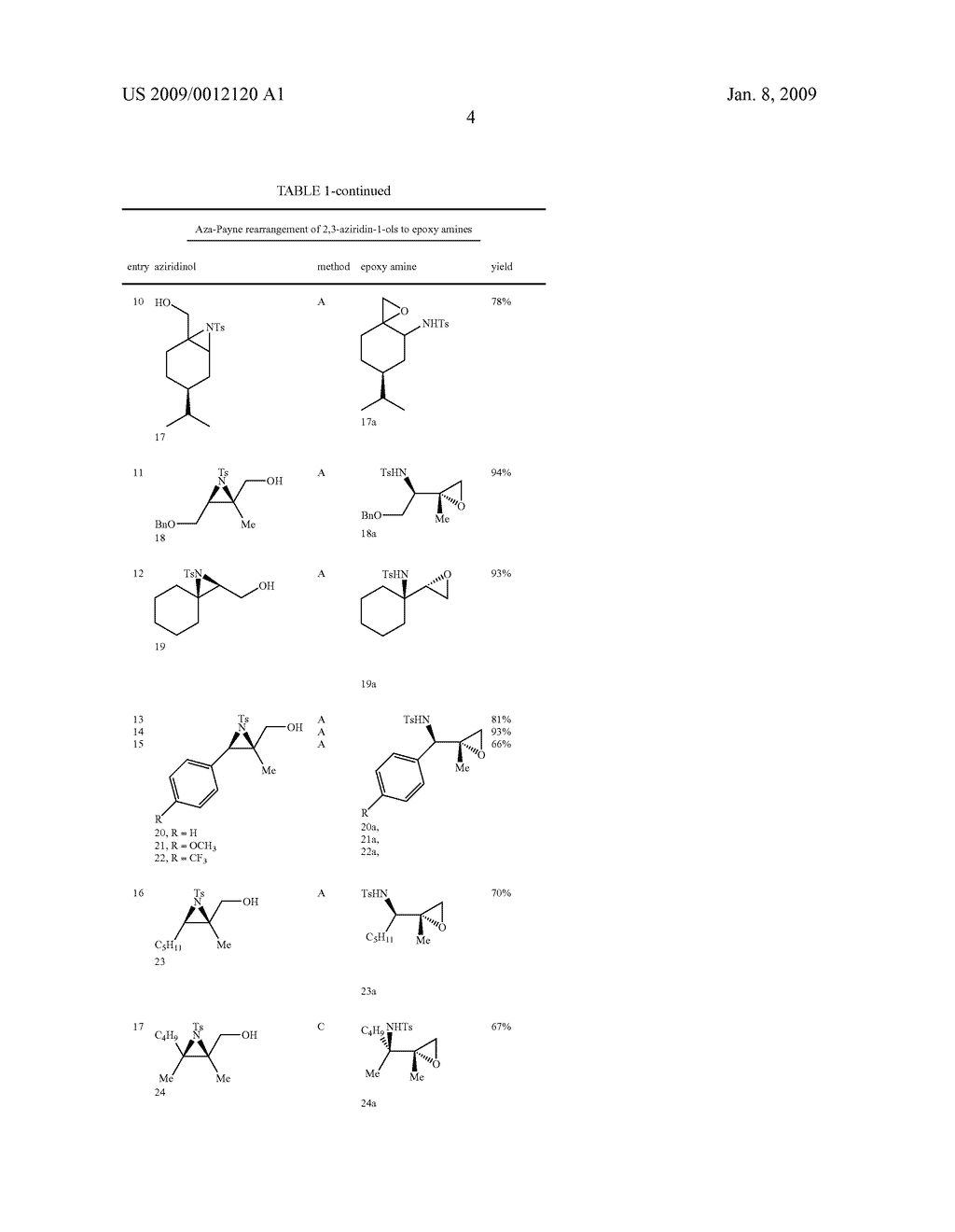 Synthesis of N-heterocycles, beta-amino acids, and allyl amines via aza-payne mediated reaction of ylides and hydroxy aziridines - diagram, schematic, and image 07
