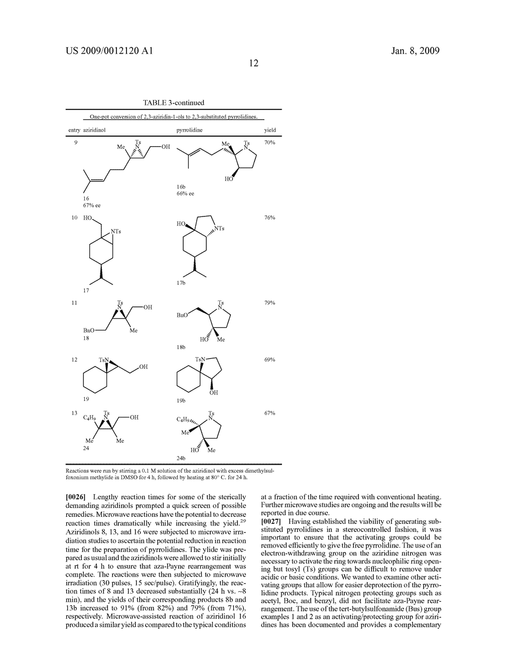 Synthesis of N-heterocycles, beta-amino acids, and allyl amines via aza-payne mediated reaction of ylides and hydroxy aziridines - diagram, schematic, and image 15