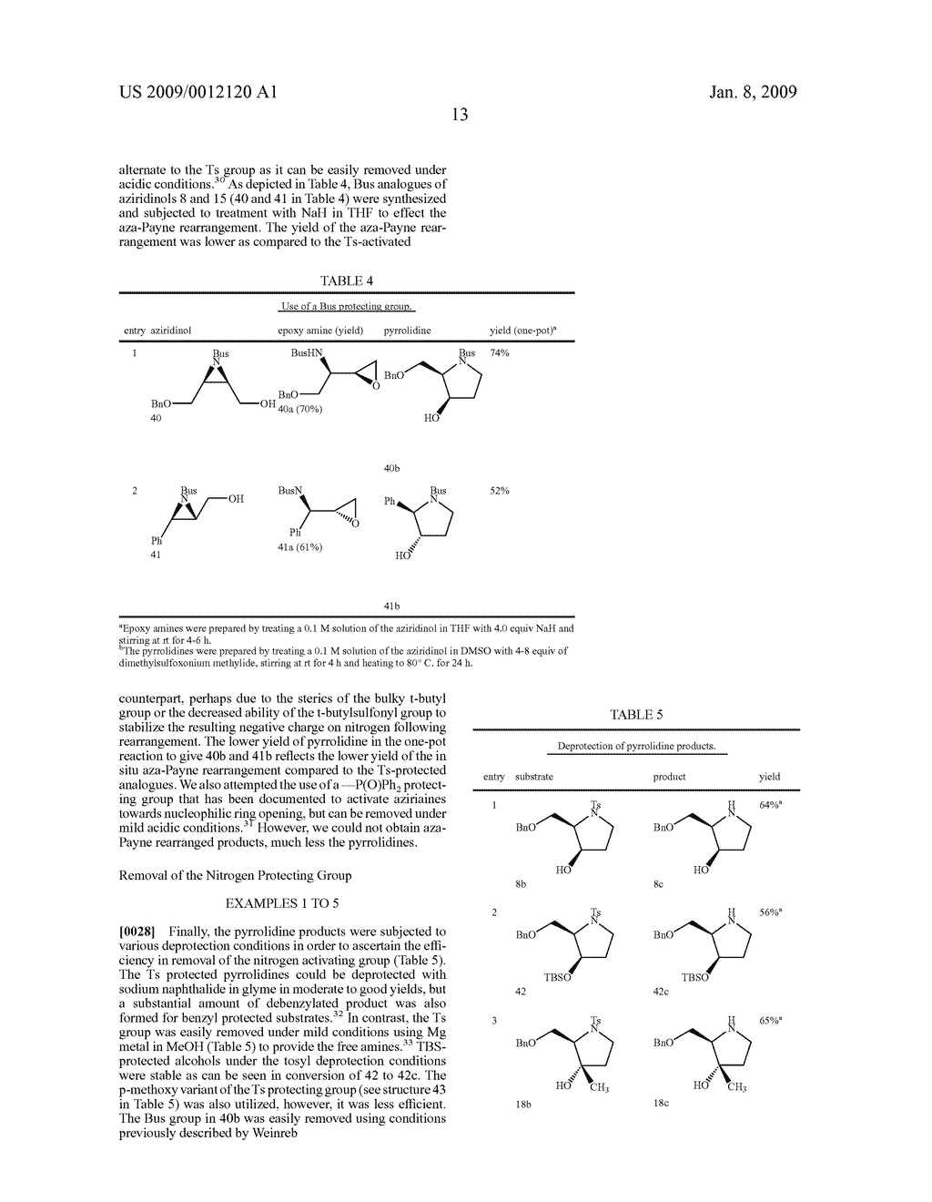 Synthesis of N-heterocycles, beta-amino acids, and allyl amines via aza-payne mediated reaction of ylides and hydroxy aziridines - diagram, schematic, and image 16