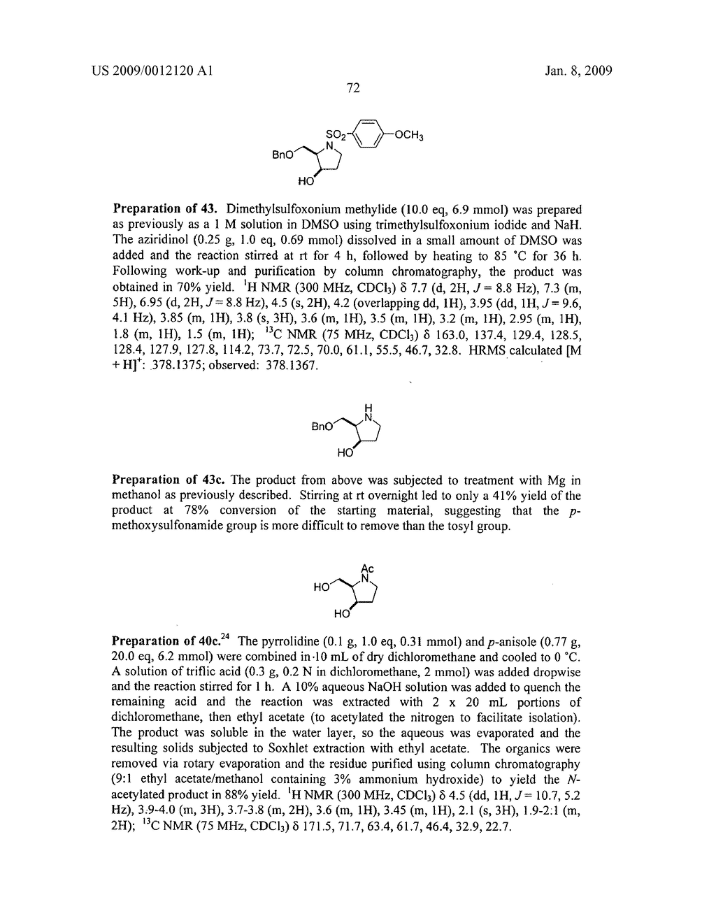 Synthesis of N-heterocycles, beta-amino acids, and allyl amines via aza-payne mediated reaction of ylides and hydroxy aziridines - diagram, schematic, and image 75