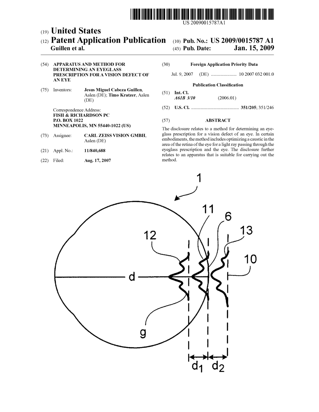 Apparatus and method for determining an eyeglass prescription for a apparatus and method for determining an eyeglass prescription for a vision defect of an eye diagram schematic and image 01 ccuart Choice Image