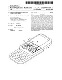 Spring loaded sliding cover for mobile phone or PDA diagram and image