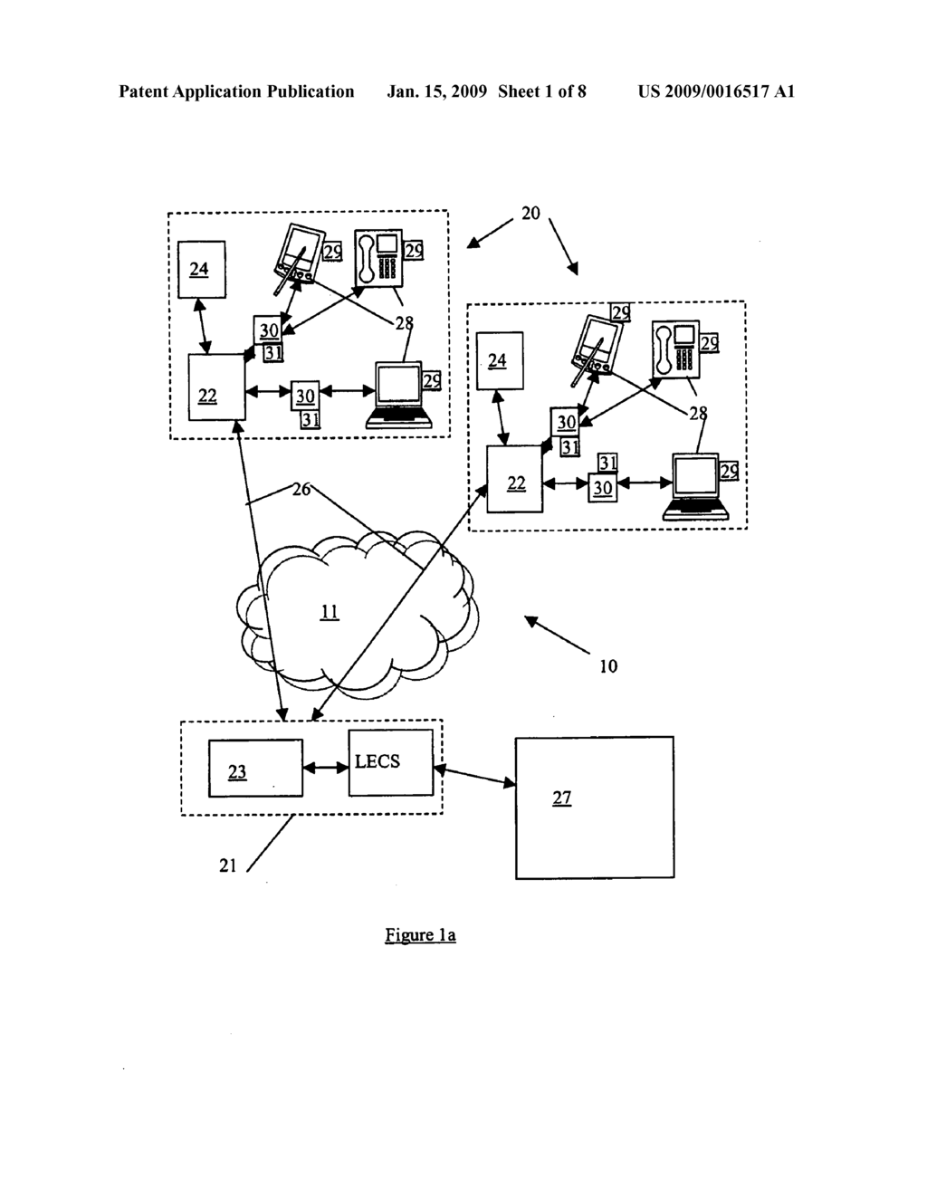 Location system and method for assisting emergency services in identifying the physical location of an IP telephony user - diagram, schematic, and image 02
