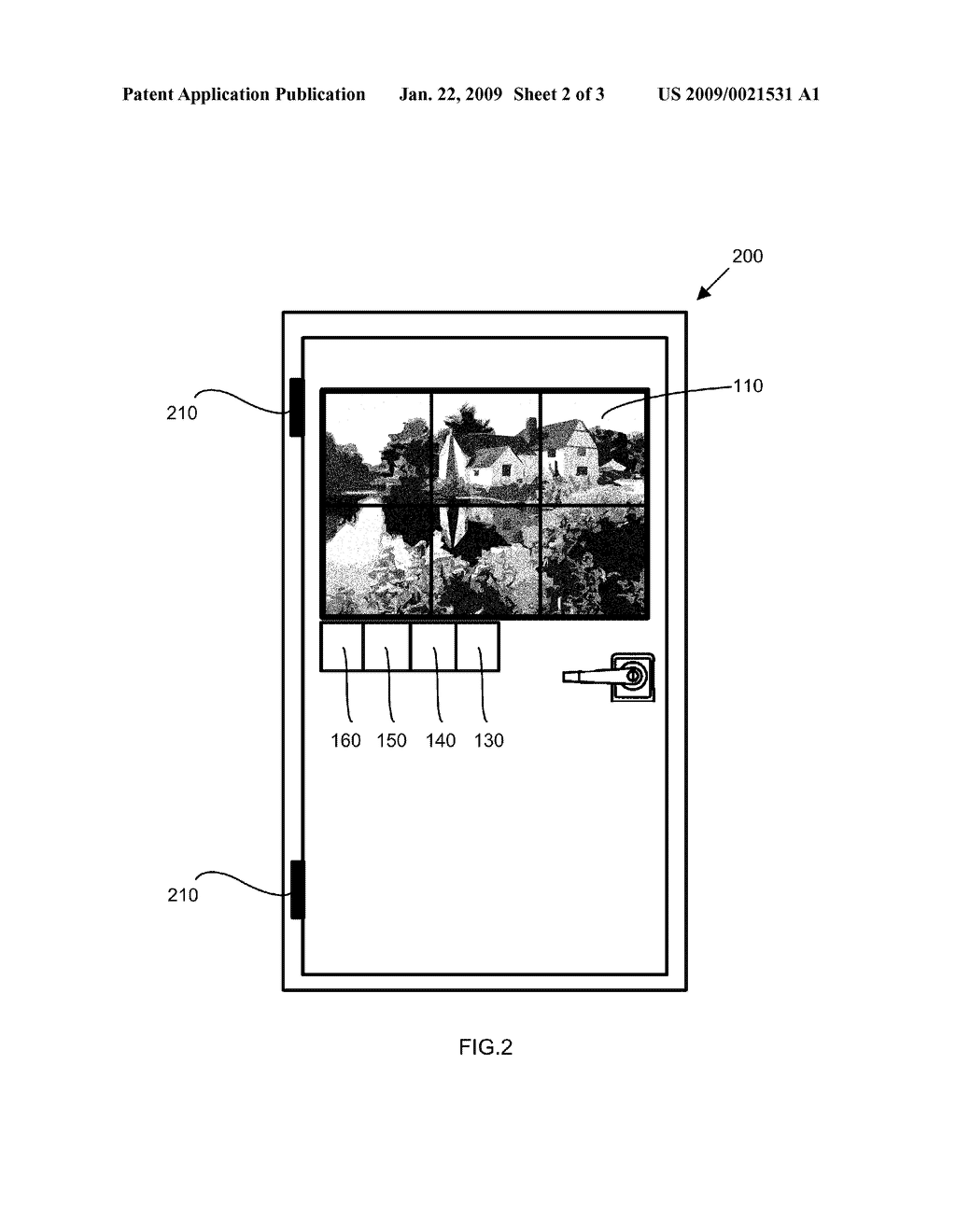 Window or door showing remote scenery in real-life motion - diagram, schematic, and image 03