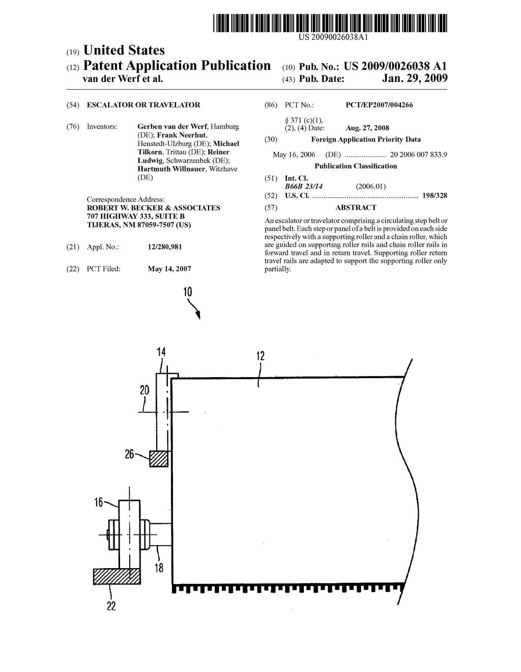 Escalator Or Travelator Diagram Schematic And Image 01