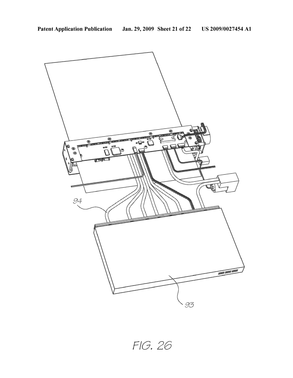 Print Engine Assembly With Chassis And Printed Circuit Board Diagram Schematic Image 22