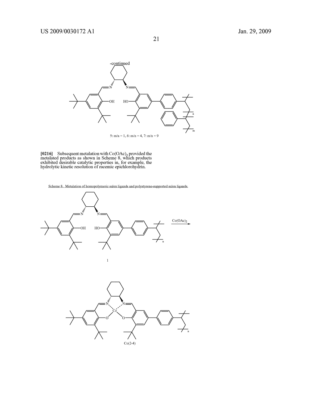 POLYMERIC SALEN COMPOUNDS AND METHODS THEREOF - diagram, schematic, and image 22