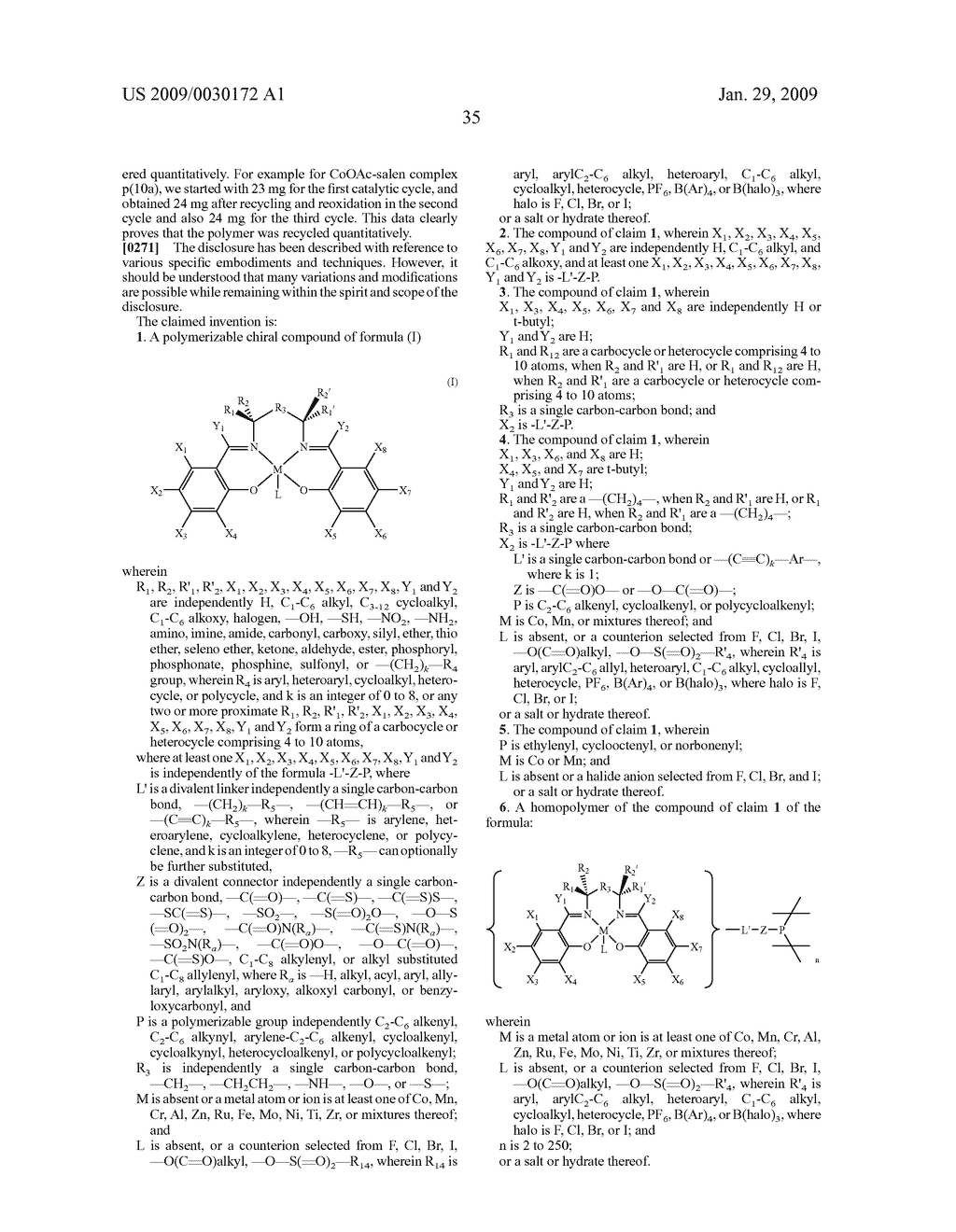 POLYMERIC SALEN COMPOUNDS AND METHODS THEREOF - diagram, schematic, and image 36