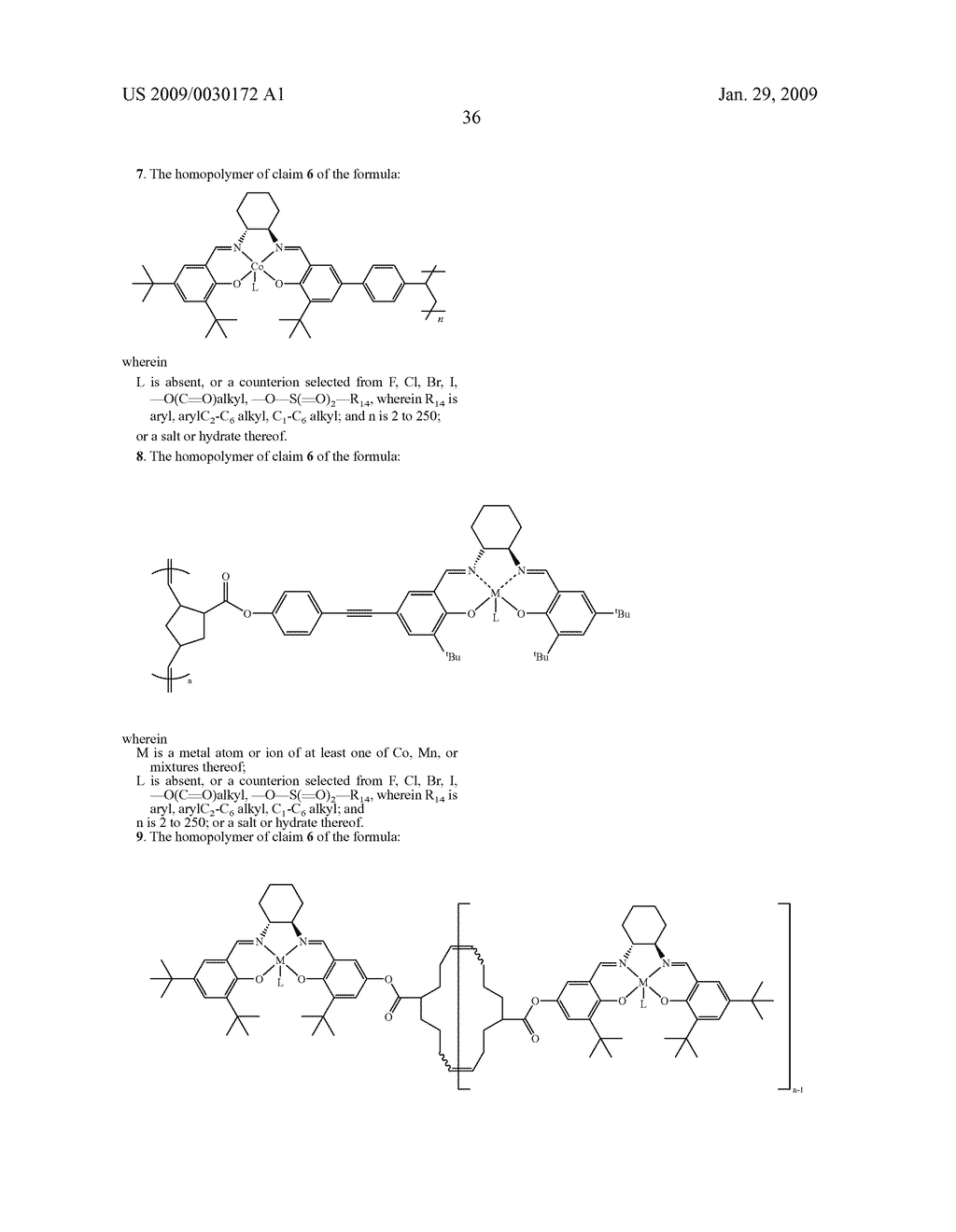 POLYMERIC SALEN COMPOUNDS AND METHODS THEREOF - diagram, schematic, and image 37