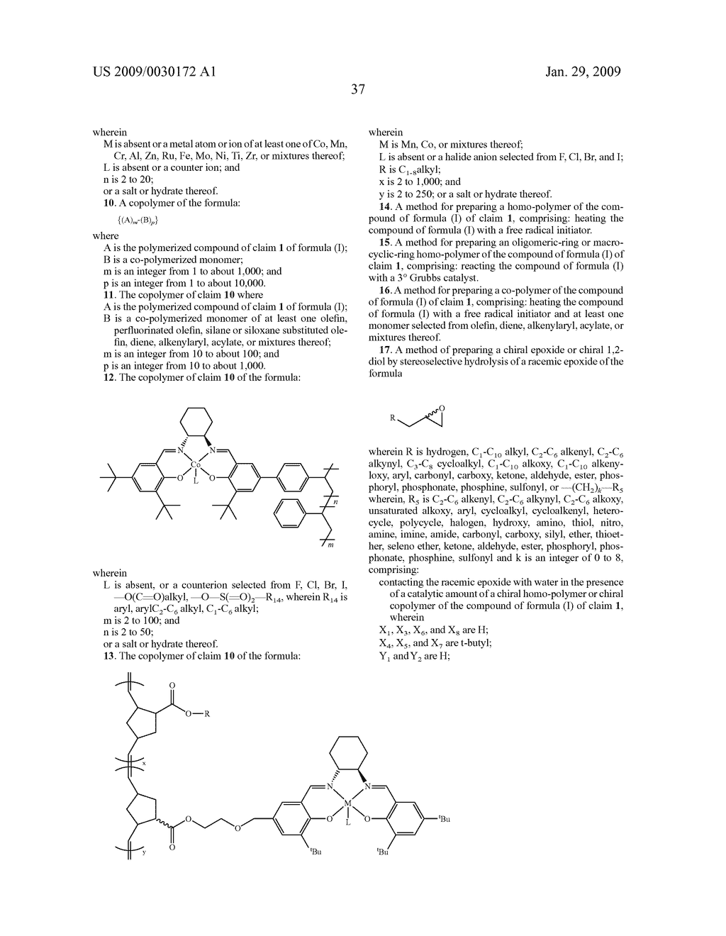 POLYMERIC SALEN COMPOUNDS AND METHODS THEREOF - diagram, schematic, and image 38