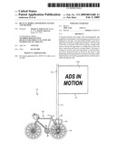 Bicycle mobile advertising system and method diagram and image