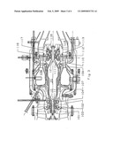 Low speed rotor shaft for a small twin spool gas turbine engine diagram and image