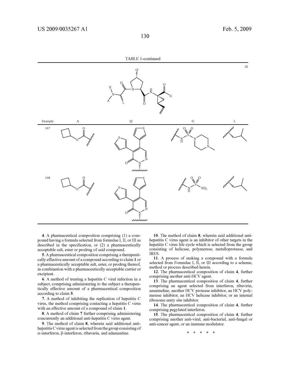 ACYCLIC, PYRIDAZINONE-DERIVED HEPATITIS C SERINE PROTEASE INHIBITORS - diagram, schematic, and image 131
