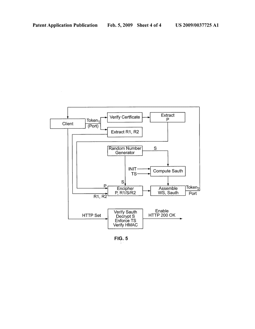 CLIENT-SERVER OPAQUE TOKEN PASSING APPARATUS AND METHOD - diagram, schematic, and image 05