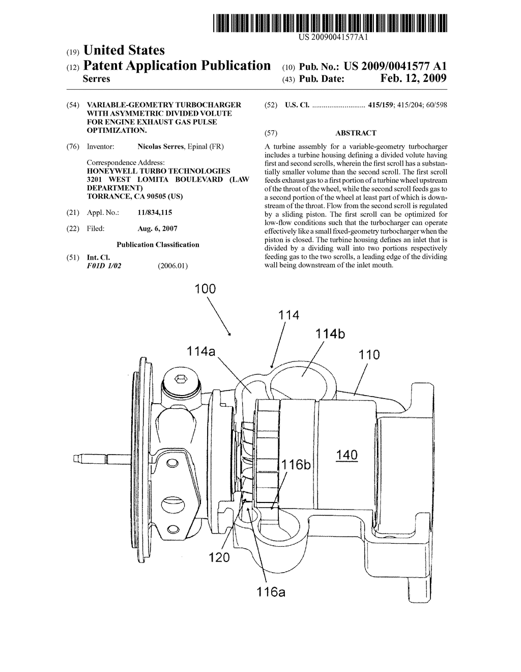 Variable Geometry Turbocharger With Asymmetric Divided Volute For Diagram Engine Exhaust Gas Pulse Optimization Schematic And Image 01