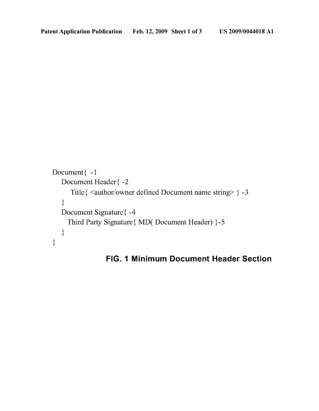Section Inclusion and Section Order Authentication Method for Computer Electronic Documents - diagram, schematic, and image 02