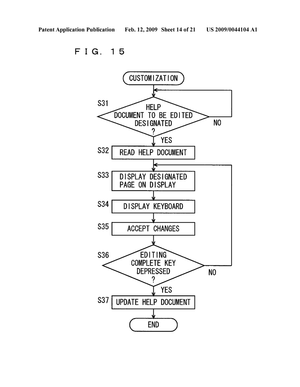 IMAGE PROCESSING APPARATUS CAPABLE OF AUTOMATICALLY GENERATING HELP DOCUMENT FOR WORKFLOW, HELP DOCUMENT GENERATING METHOD AND HELP DOCUMENT GENERATING FORM - diagram, schematic, and image 15