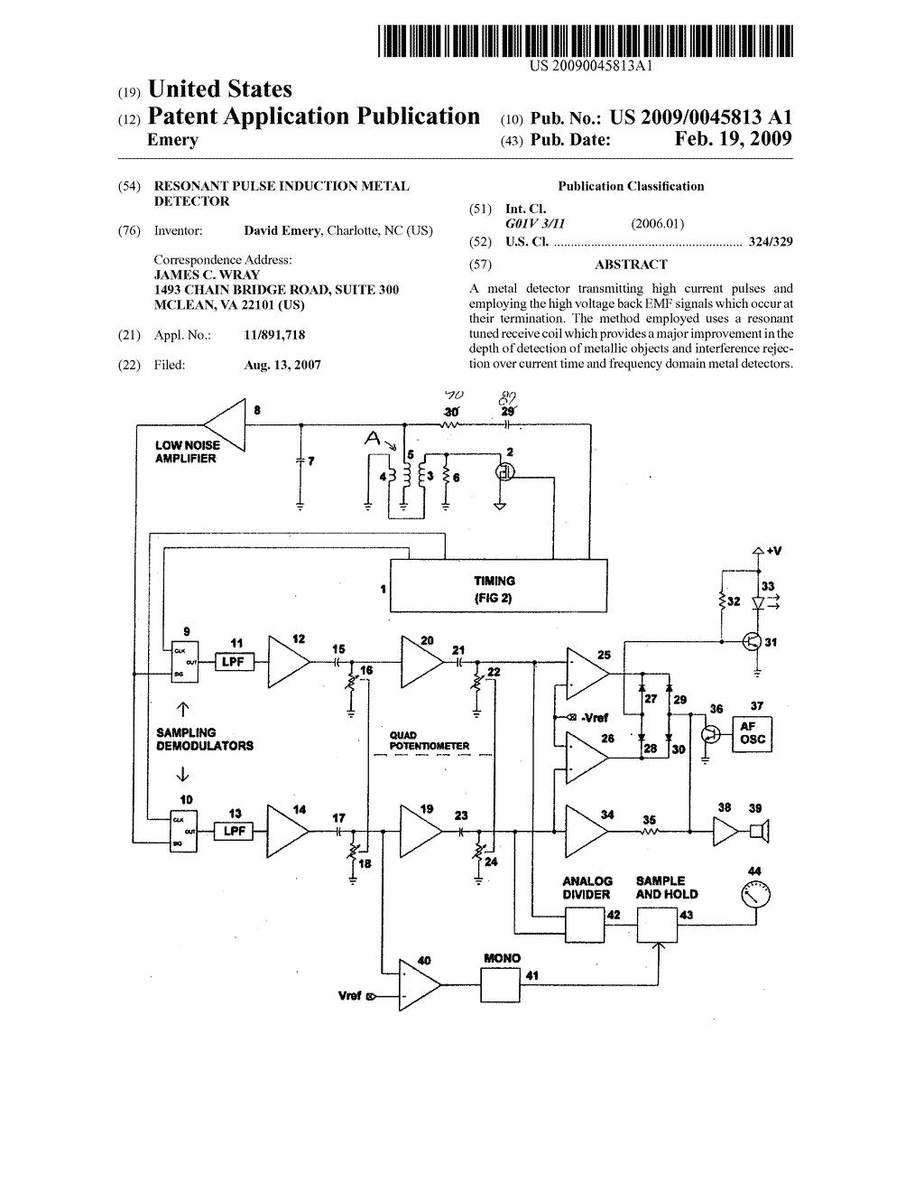 resonant pulse induction metal detector diagram schematic and rh patentsencyclopedia com pulse induction metal detector circuit diagram simple pulse induction metal detector circuit diagram
