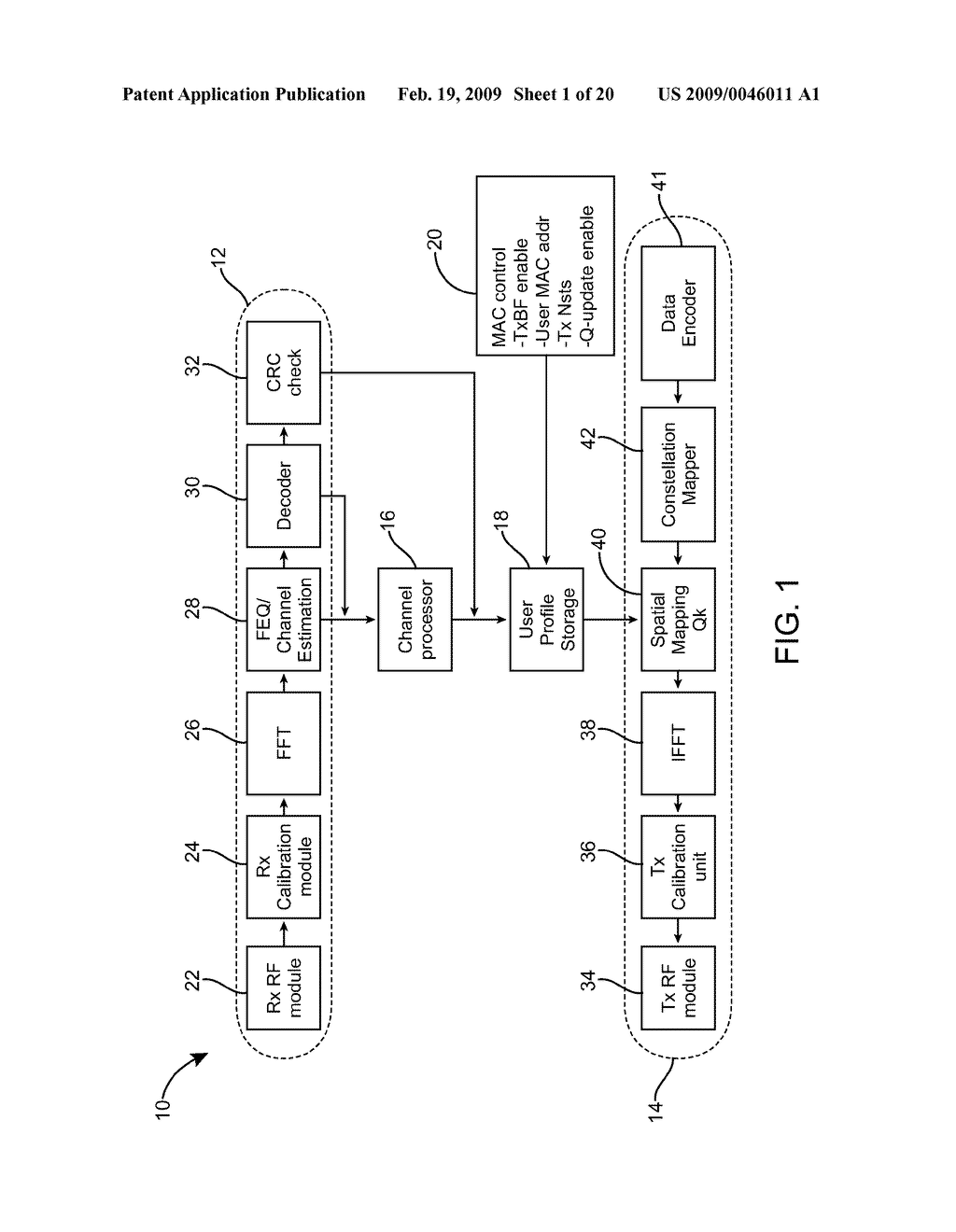 Method and Apparatus for Calibration for Beamforming of Multi-Input-Multi-Output (MIMO) Orthogonol Frequency Division Multiplexing (OFDM) Transceivers - diagram, schematic, and image 02