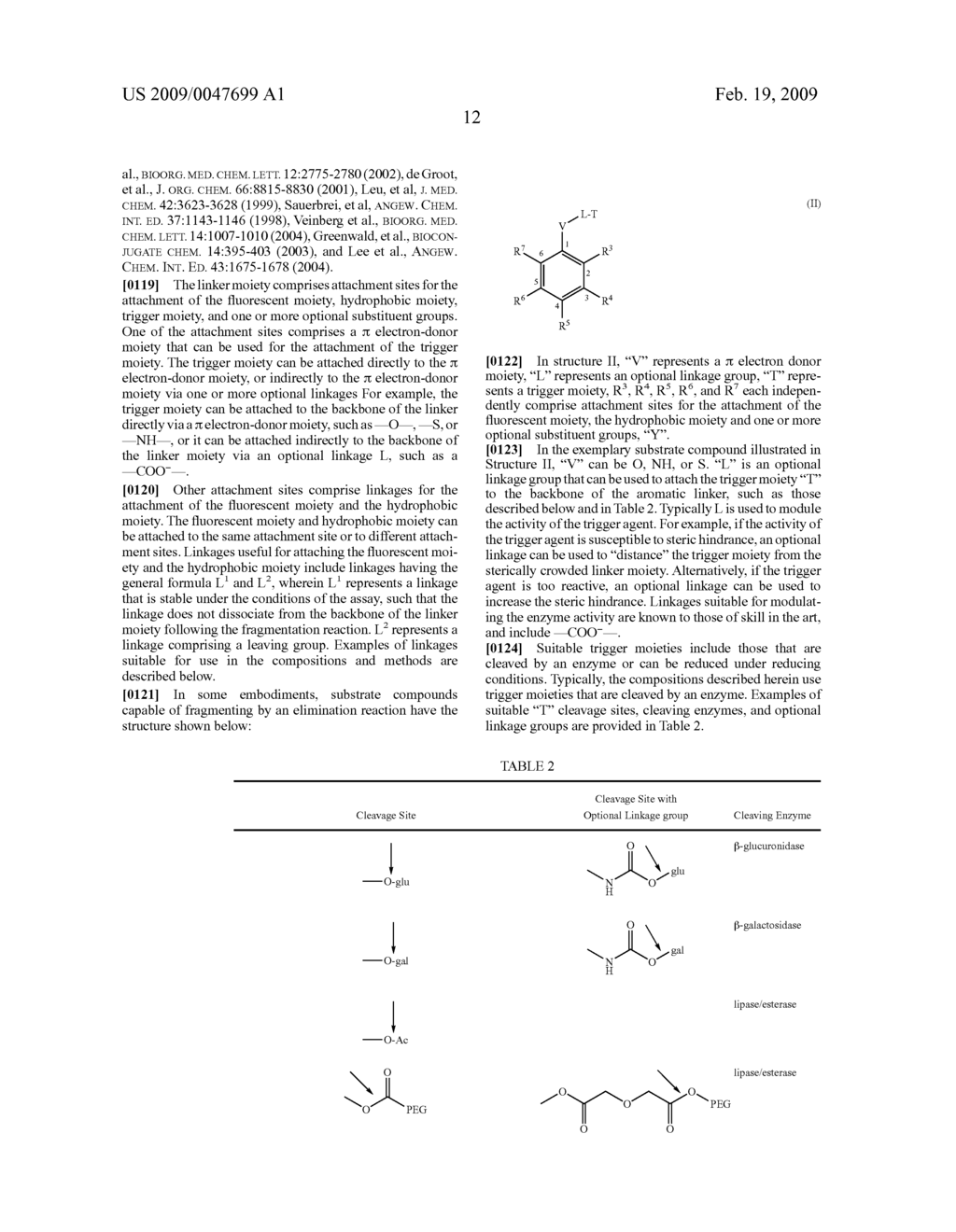 FLUOROGENIC ENZYME ACTIVITY ASSAY METHODS AND COMPOSITIONS USING FRAGMENTABLE LINKERS - diagram, schematic, and image 34