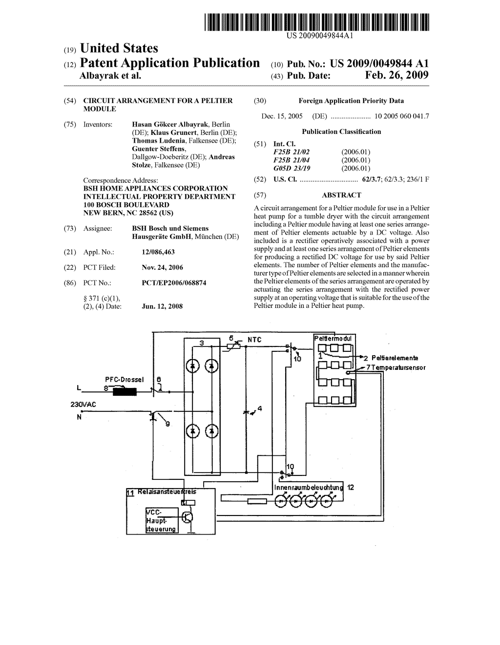 Circuit Arrangement for a Peltier Module - diagram, schematic, and ...