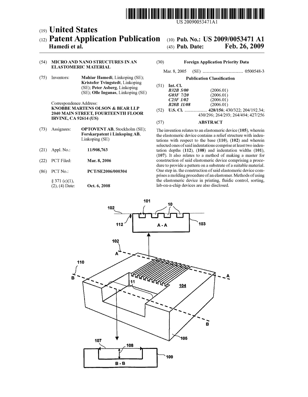MICRO AND NANO STRUCTURES IN AN ELASTOMERIC MATERIAL - diagram, schematic, and image 01