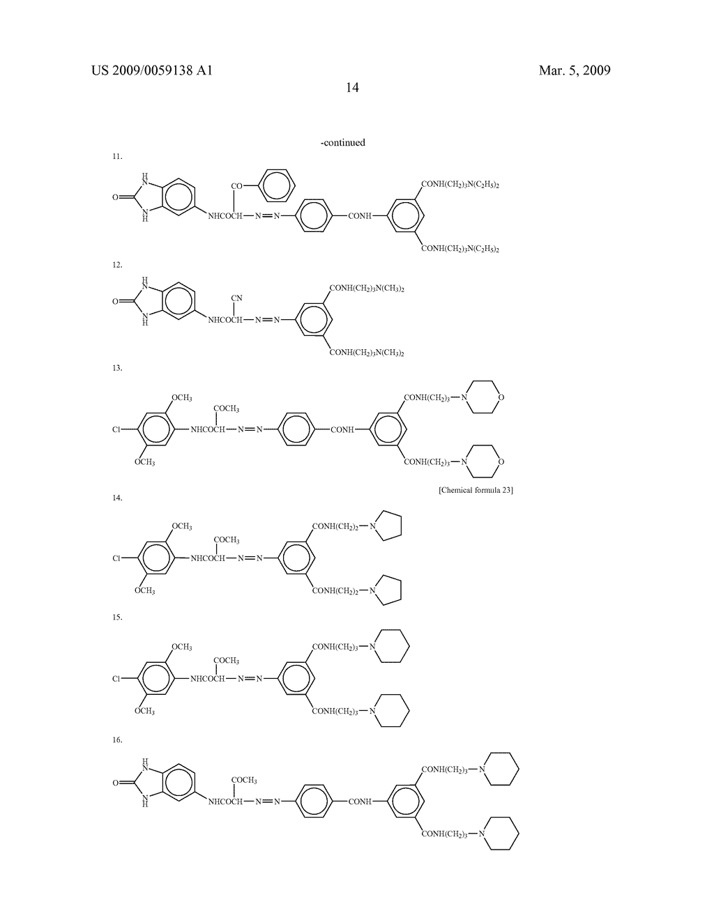 METHOD OF PRODUCING ORGANIC NANOPARTICLES, ORGANIC NANOPARTICLES THUS OBTAINED, INKJET INK FOR COLOR FILTER, COLORED PHOTOSENSITIVE RESIN COMPOSITION AND PHOTOSENSITIVE RESIN TRANSFER MATERIAL, CONTAINING THE SAME, AND COLOR FILTER, LIQUID CRYSTAL DISPLAY DEVICE AND CCD DEVICE, PREPARED USING THE SAME - diagram, schematic, and image 20