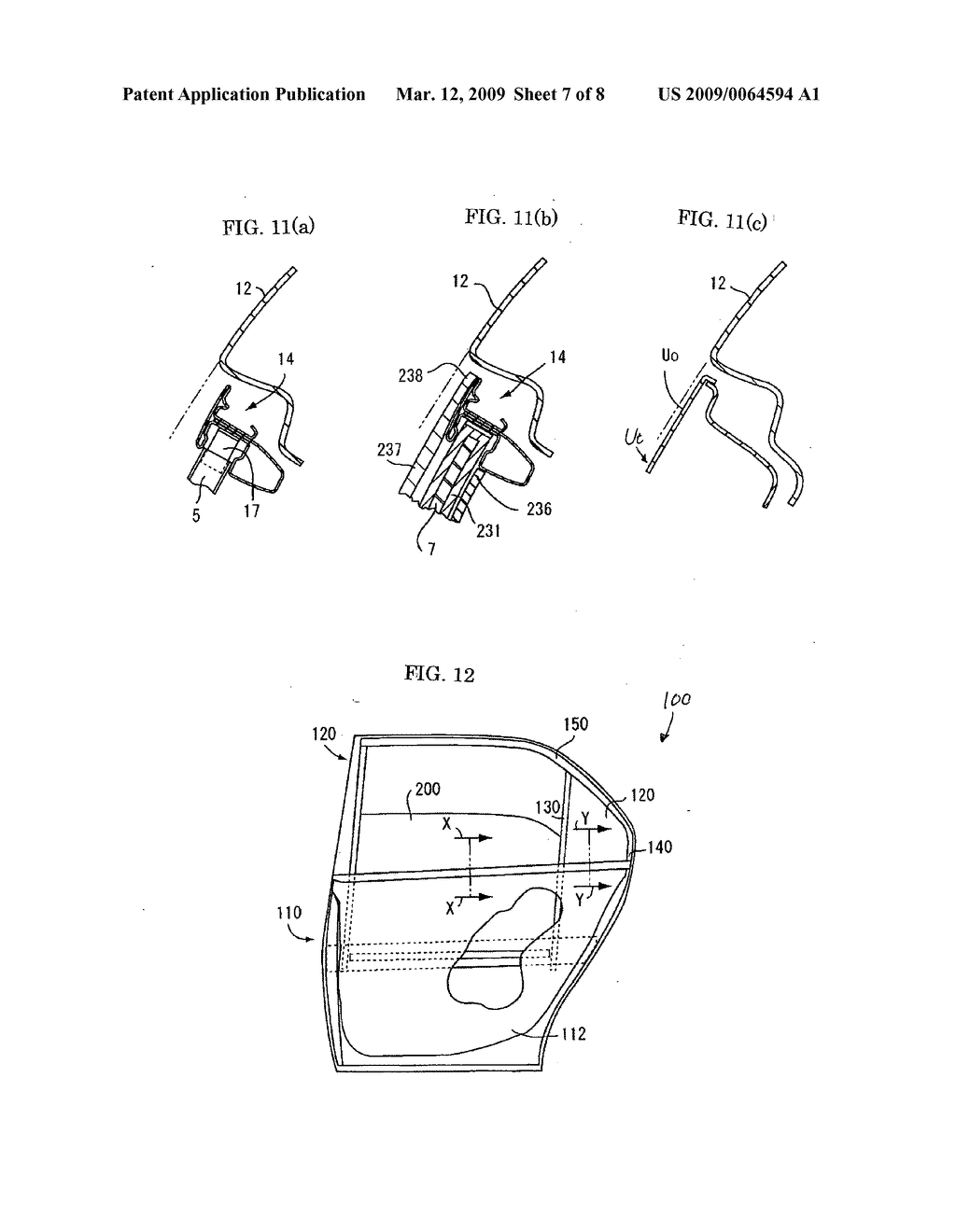 structure of window opening of car door - diagram, schematic, and image 08