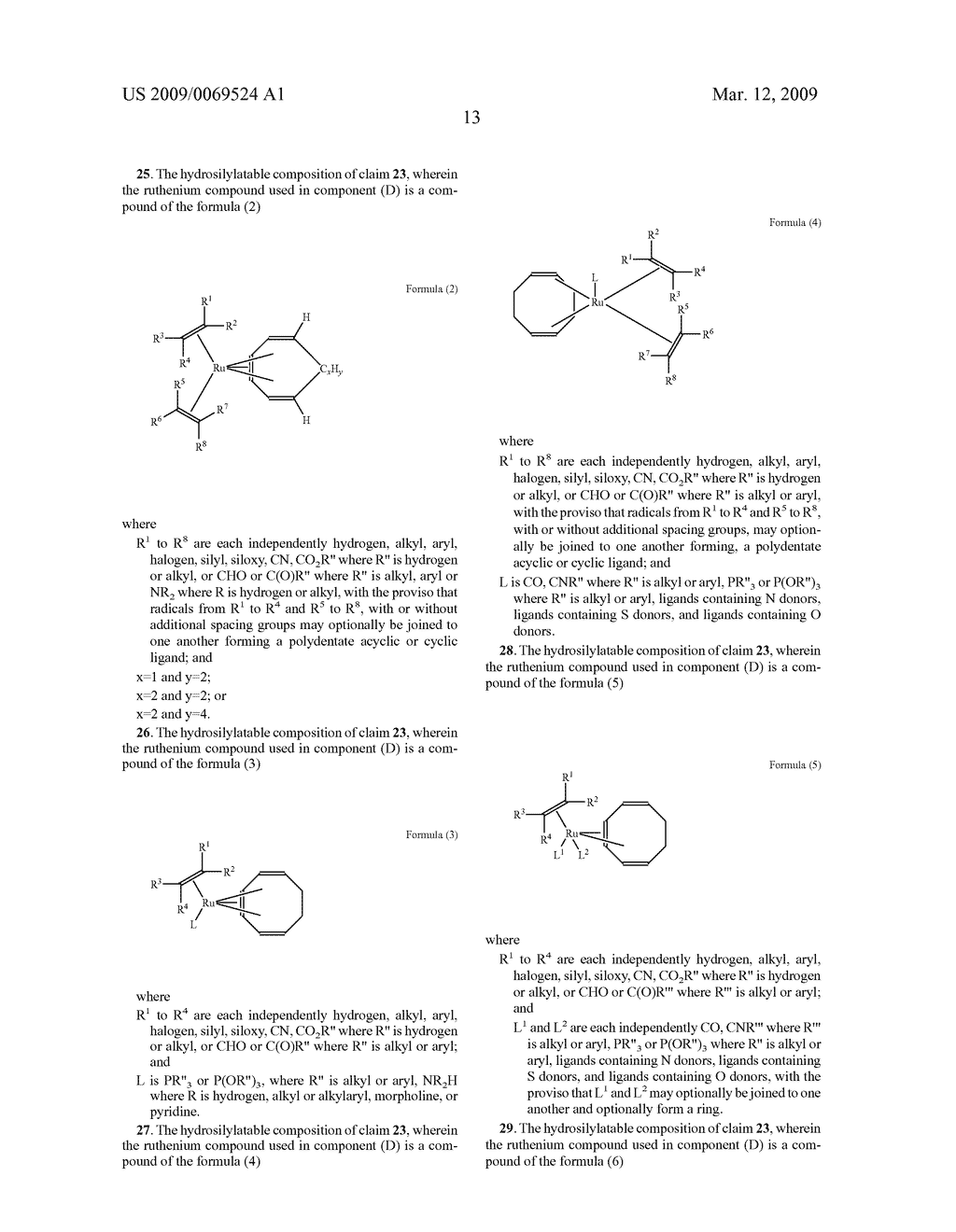 HYDROSILYLATION PROCESS IN THE PRESENCE OF RUTHENIUM CATALYZERS - diagram, schematic, and image 14
