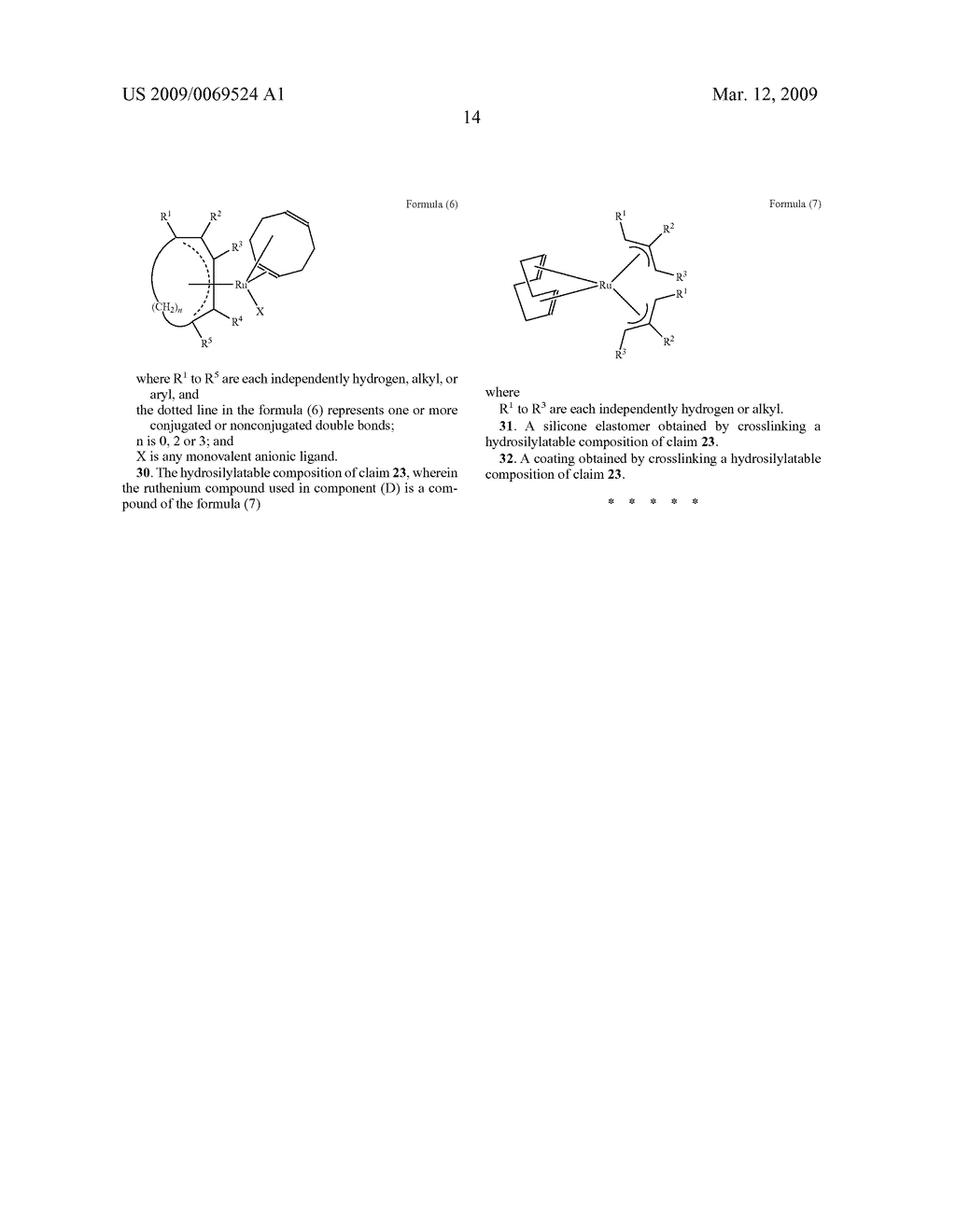 HYDROSILYLATION PROCESS IN THE PRESENCE OF RUTHENIUM CATALYZERS - diagram, schematic, and image 15