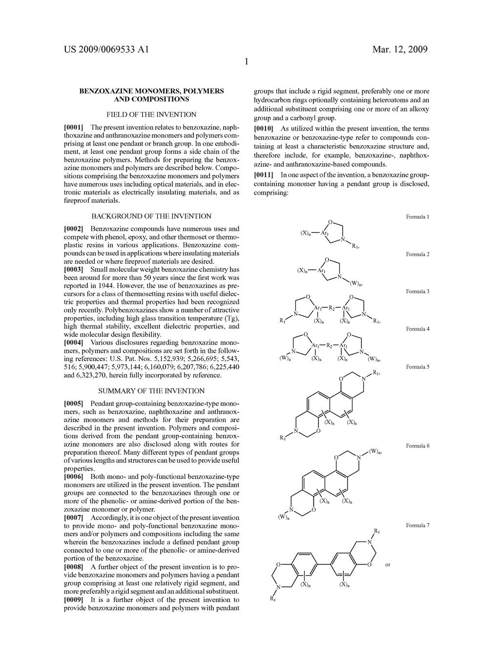 Benzoxazine monomers, polymers and compositions - diagram, schematic, and image 03