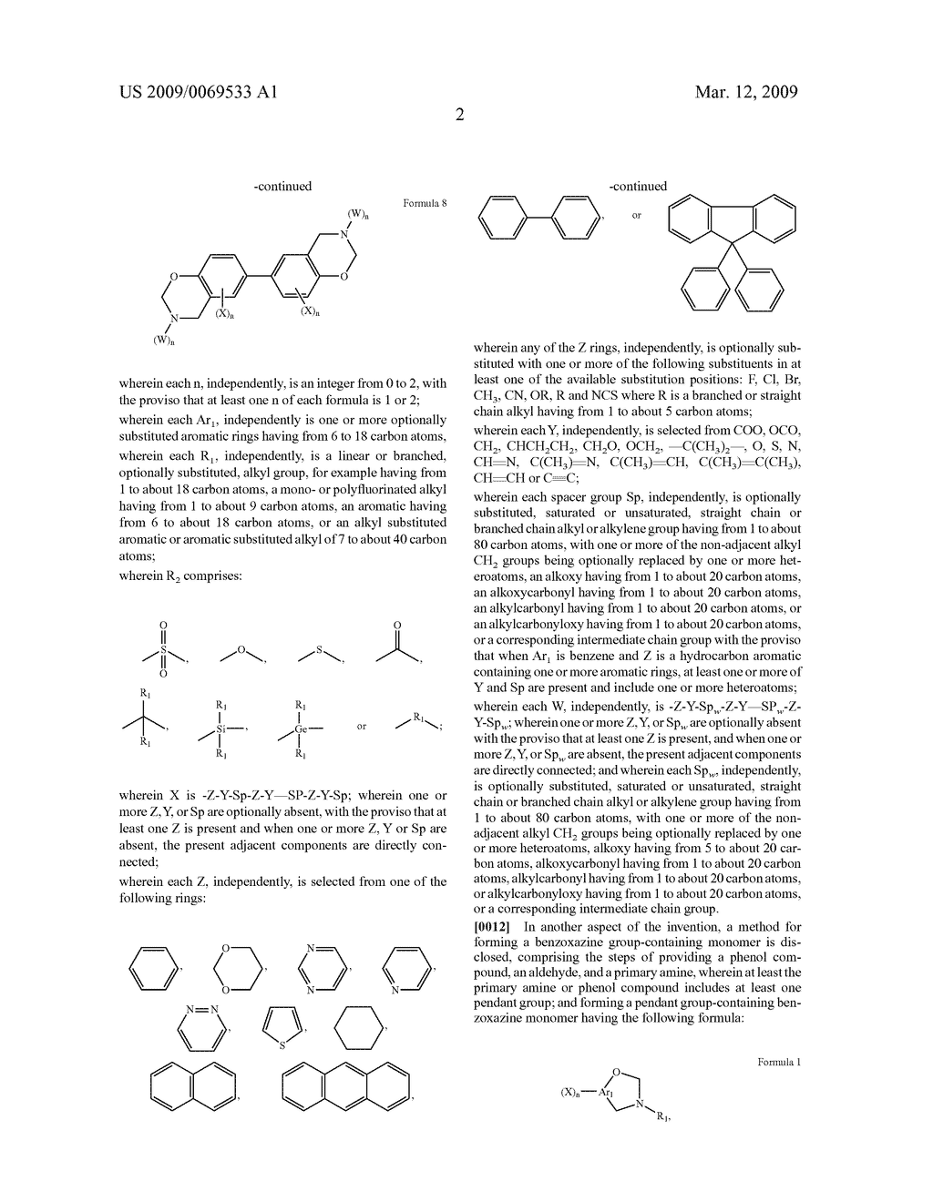 Benzoxazine monomers, polymers and compositions - diagram, schematic, and image 04